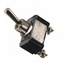 Interrupteur ON/OFF/ON métal chrome