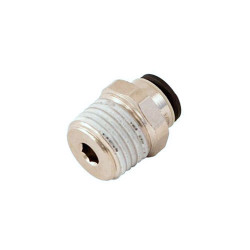1/4 BSP x 6mm outlet tube fitting extinguisher